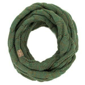 C.C Multi Color Soft Cable Knit Infinity Scarf